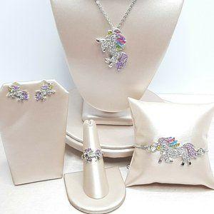 Girls Whaline 4 Piece Unicorn Jewelry Set